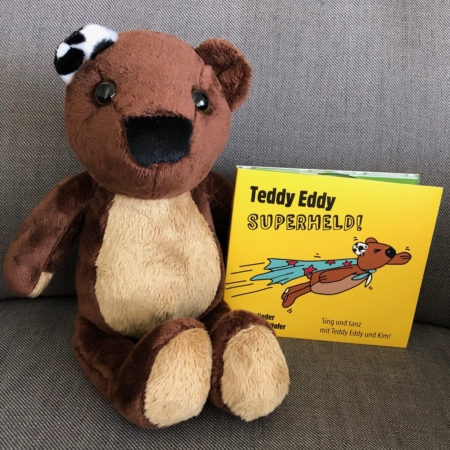 Teddy Eddy Set Kinderlieder CD und Plüschbär