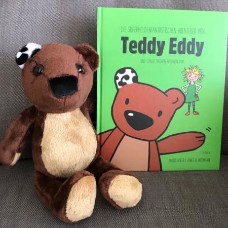 Teddy Eddy Set Plüschbär plus Vorlesebuch