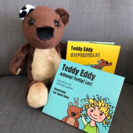 Teddy Eddy Set Kinderlieder CDs und Plüschbär