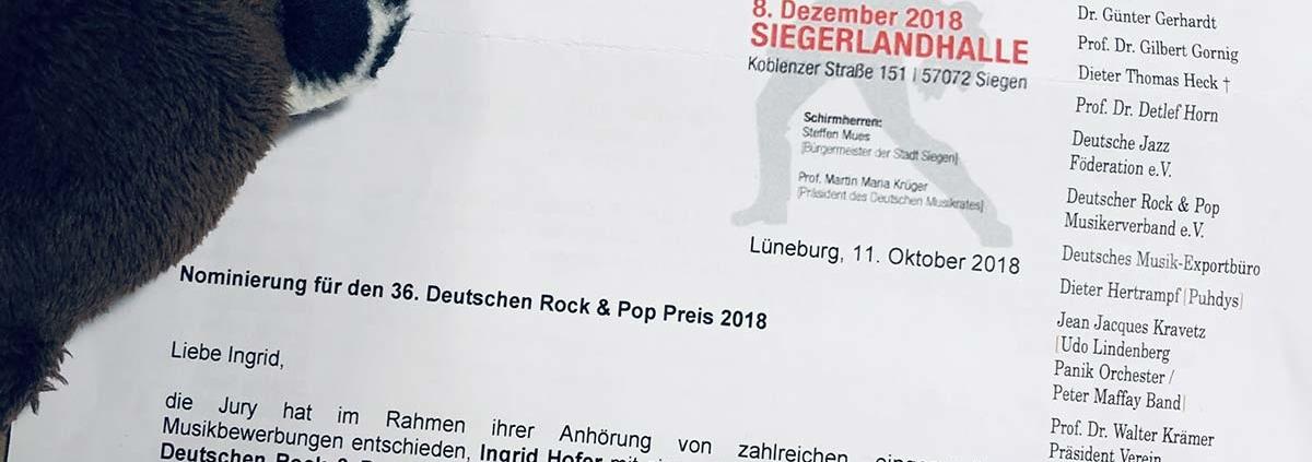 Deutscher Rock & Pop Preis 2018 Teddy Eddy