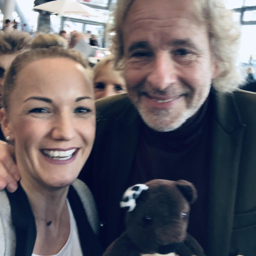 Teddy Eddy und Ingrid Hofer mit Thomas Gottschalk
