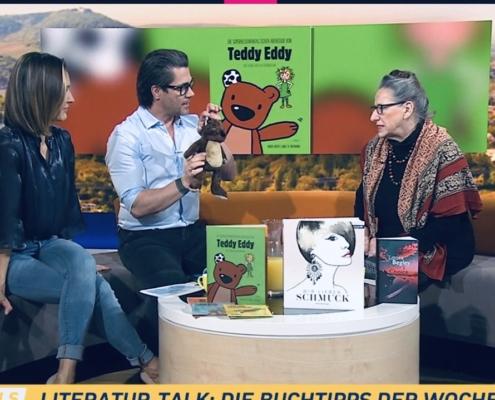 Buchtalk Puls4 Rotraut Schöberl Teddy Eddy