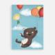 Postkarte Luftballons Teddy Eddy