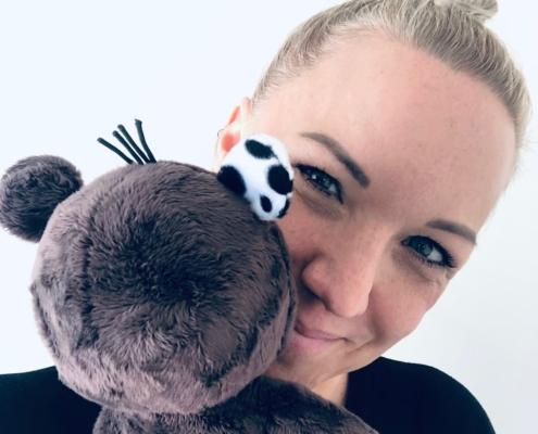 Teddy Eddy Kuschelbär & Ingrid Hofer